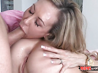 Hunk gets to fuck a older chick and a youthful sweetheart