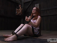 Bounded beauty waits for her brutal punishment