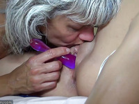 Granny likes youthful Gal