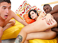 Tori Lux and Her Spouse One As Well As The Other Engulf on a Black Shlong