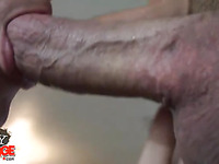 Amateur guy gets excited to get his mouth fucked so hard