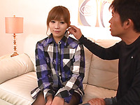 Horny Japanese playgirl wants lusty mashing for her large boobs