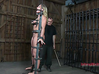 Masked beauty gets her love muffins bounded hard with toy drilling
