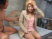 Oriental hotty's constricted fur pie is poked, played with and creamed