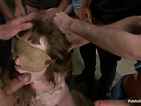 Gagged and bounded slut is submitting to her members completely