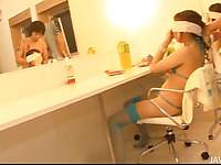 Virgrator makes the ribald Japanese chick squirt and moan