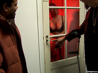 Filthy large titted Angie likes slobbering and riding