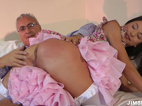 Appealing Nataly Gold blowing large shaft