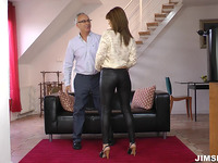 Lusty brown-haired gf Lora Summer's sissy is nailed well