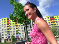 Nasty playgirl Agata blows packing monster