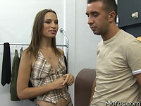 Stunning cutie Amber Rayne can't live without hard sex