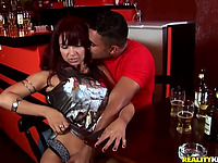 Ravishing latin lady Carmen Dias banged doggy style