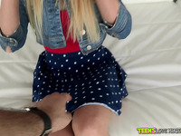 Divine blond Lucy Tyler fingered and licked