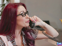 Dishy red-haired girlfriend Monique Alexander gets body fondled well