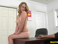 Spicy Abbie Anderson cant stop cumming from sex