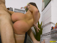 Meat riding by a obscene-minded ambitious latin Abella Danger