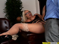 Dishy blond Sadie Swede gets drilled unfathomable