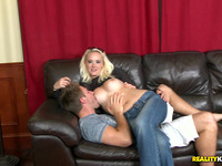 Sensual blond gal Holly Hart and dude have a fun hardcore
