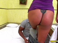 Lovable maiden Sophia Pacheco bows over for rear fuck