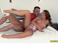 Erotic session for fresh brown-haired hannah pleasing