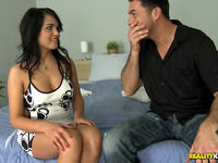 Fleshly floosy Aida Sweet bounces on thick jock