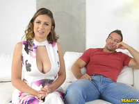 Frisky brown-haired Ivy Rose bows for phallus on webcam