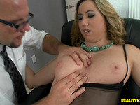 Savory blond gf Kat Krown knows how to please pecker