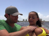Savory brown-haired floosy Liza Del Sierra in action