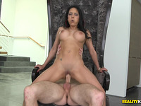Delightful latin woman Tia Cyrus in a wild action