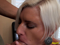 Striking blond Catarina dwells on engulfing