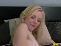 Raunchy blond minx Sunny Marie and hunk have a fun hardcore