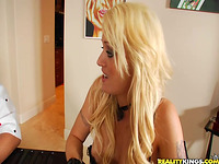 Attractive blond darling Monica Mayhem goes wild