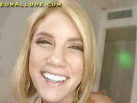 Blond Legal Age Teenager Playgirl Sucks Ramrod
