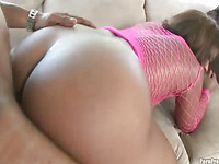 Syndee gets her sweet appealing round black arse fucked pool side.