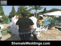 Camile shemale bride in action
