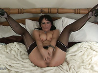 kinky aged slut playing with her sextoy