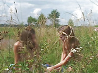 Nasty and glorious lesbians are having fun on the nature