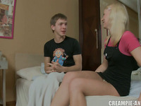 Arm wrestling match finds a blond fucked