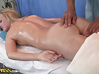 Hawt blondie has awesome massage