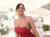 Wonderful brunette Kendra Lust with big butt is having deep fuck
