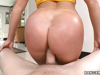 Bewitching Nikki with big ass is riding on big meat stick