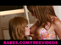 Two redhead beauties take turns eating each other out