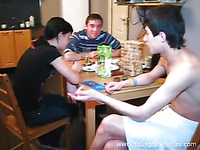 Perverted college dudes are setting a nasty and wild gangbang party