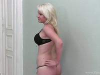 Sexy blonde Nikki has a lusty pussy that is hungry all the time