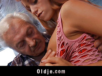 Fortunate oldman bonks a sexy youthful pornstar