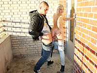 Blond in avid public fuck adventure