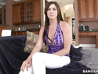 Watch the close up action with slut is getting her poured