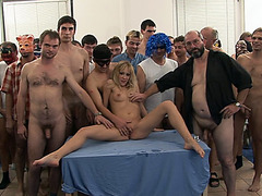 Taut Blond Chick Gets Extreme Hardcore group-sex
