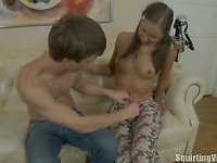 Shy legal age teenager banged hard