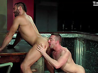 Entering his first sex club, smooth Scott Hunter is instantly targeted by doorman Jessy Ares who wraps his arm around Scott and pulls him in, giving a kiss him unfathomable.